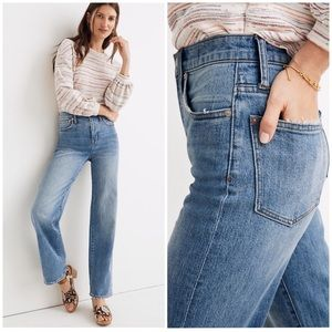 Madewell Slim Wide-Leg Full-Length Jeans NWT